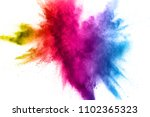 multi color powder explosion on ... | Shutterstock . vector #1102365323