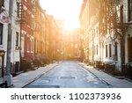 sunlight shines on historic...   Shutterstock . vector #1102373936