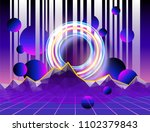 cyber landscape poster with... | Shutterstock .eps vector #1102379843
