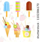 vector objects collection of...   Shutterstock .eps vector #1102386170