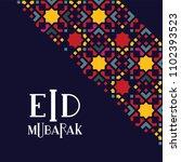 eid mubarak islamic greeting... | Shutterstock .eps vector #1102393523