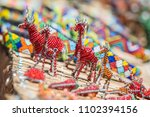 colorful african bead art... | Shutterstock . vector #1102394156