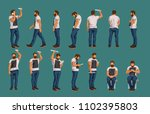 detailed set of man | Shutterstock .eps vector #1102395803