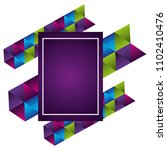 geometric figures and colors...   Shutterstock .eps vector #1102410476