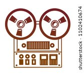 reel to reel tape recorder...   Shutterstock .eps vector #1102410674