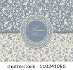 wedding invitation cards... | Shutterstock .eps vector #110241080