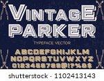 classic vintage decorative font ... | Shutterstock .eps vector #1102413143
