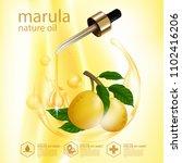 face skin care marula organic... | Shutterstock .eps vector #1102416206