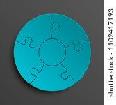 puzzle five piece business... | Shutterstock . vector #1102417193