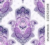 seamless pattern from ornate... | Shutterstock .eps vector #1102421048