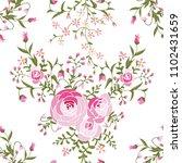 small pink flowers seamless...   Shutterstock .eps vector #1102431659