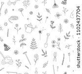 vector seamless pattern of... | Shutterstock .eps vector #1102437704