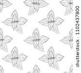 seamless floral pattern  nettle ... | Shutterstock .eps vector #1102437800