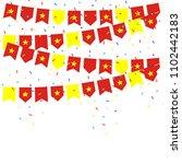 vietnam celebration bunting... | Shutterstock .eps vector #1102442183