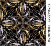 ornamental vintage 3d seamless... | Shutterstock .eps vector #1102445246
