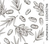 seamless pattern with date... | Shutterstock . vector #1102452746
