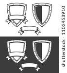 heraldic triangular shield and... | Shutterstock .eps vector #1102453910