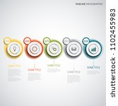 time line info graphic with... | Shutterstock .eps vector #1102455983
