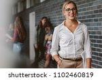 portrait of beautiful... | Shutterstock . vector #1102460819