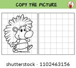 hedgehog. copy the picture.... | Shutterstock .eps vector #1102463156