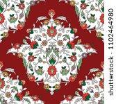 classic otoman turkish style... | Shutterstock .eps vector #1102464980