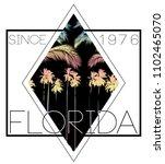florida summer poster tee | Shutterstock .eps vector #1102465070