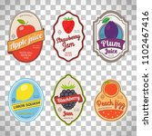 retro fruit posters or vintage... | Shutterstock . vector #1102467416