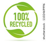 green recycling symbol | Shutterstock .eps vector #1102469996