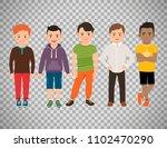 cute little boys characters... | Shutterstock . vector #1102470290