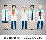 female doctor or smiling woman ... | Shutterstock . vector #1102471250