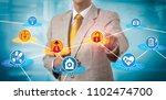 unrecognizable healthcare... | Shutterstock . vector #1102474700