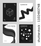 modern abstract monochrome... | Shutterstock .eps vector #1102483748