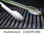 grill utensils tools fork tongs ... | Shutterstock . vector #1102491380