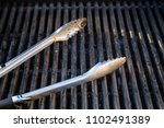 grill utensils tools fork tongs ... | Shutterstock . vector #1102491389