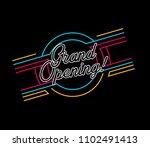 grand opening  vector beautiful ... | Shutterstock .eps vector #1102491413