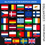 all flags of the countries of... | Shutterstock . vector #1102497503