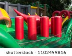 kids playing in air trampoline... | Shutterstock . vector #1102499816