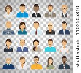 business people flat avatars.... | Shutterstock . vector #1102505810