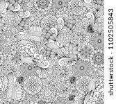 black and white detailed line...   Shutterstock . vector #1102505843