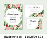 elegant wedding invitation ... | Shutterstock .eps vector #1102506623