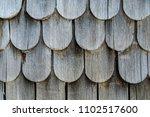 weathered wooden shingles | Shutterstock . vector #1102517600