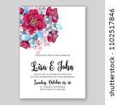 wedding invitation vector... | Shutterstock .eps vector #1102517846