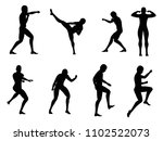 silhouette of young man fight... | Shutterstock .eps vector #1102522073