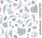 seamless tropical pattern on... | Shutterstock . vector #1102522709