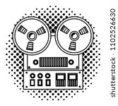 reel to reel tape recorder...   Shutterstock .eps vector #1102526630