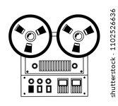 reel to reel tape recorder... | Shutterstock .eps vector #1102526636