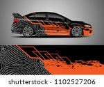 car decal vector  graphic... | Shutterstock .eps vector #1102527206