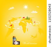 world tourism. travel around... | Shutterstock .eps vector #1102528043