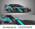 car decal vector  graphic... | Shutterstock .eps vector #1102529690