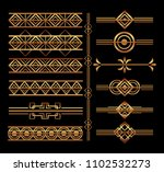 art deco frames and borders | Shutterstock .eps vector #1102532273